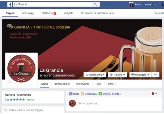 Progetto realizzato per La Grancia da Ermes Digital, Sudio grafico, web e seo Milano