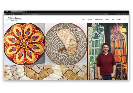 Progetto realizzato per Marta Severgnini - Studio Mosaico da Ermes Digital, Sudio grafico, web e seo Milano
