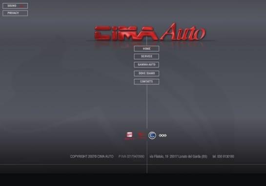 Progetto realizzato per CIMA AUTO da Ermes Digital, Sudio grafico, web e seo Milano