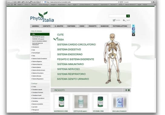 Progetto realizzato per PHYTO ITALIA da Ermes Digital, Sudio grafico, web e seo Milano